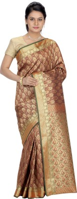 Srinidhi Silks Woven Fashion Georgette Sari