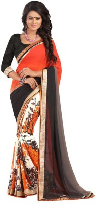Ashton Printed Fashion Georgette Sari