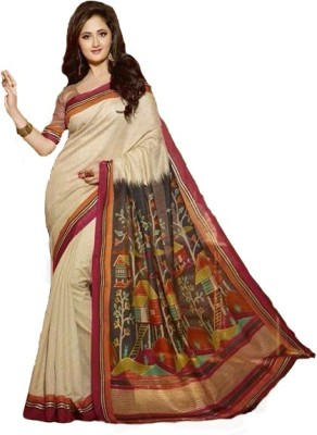 Sapphire Self Design Fashion Cotton Sari