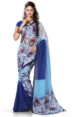 Adah Fashions Printed Daily Wear Chiffon Sari