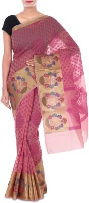 Paradise Fashion Woven Chanderi Handloom Georgette Sari