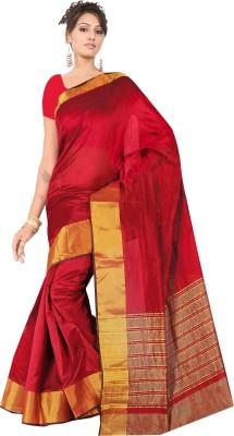 Wwskey Printed Fashion Silk Cotton Blend Sari