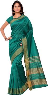 Sarvagny Clothing Self Design Bollywood Cotton Sari