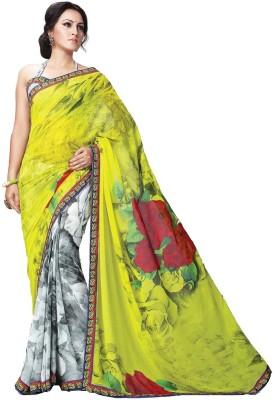 365 Labels Floral Print Bollywood Georgette Sari