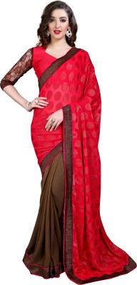 Anwesha Saree Plain Fashion Georgette Sari