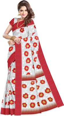 Sangam Kolkata Floral Print Fashion Cotton Sari