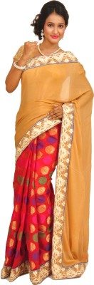 Anamika Collection Embellished Fashion Handloom Pure Georgette Sari