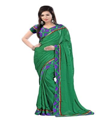 ambey shree trendz Animal Print Madhubani Georgette Sari