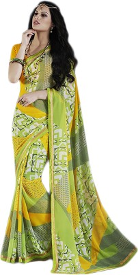 Linenplus Printed Bollywood Georgette Sari