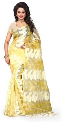 Pehnava Self Design Banarasi Polycotton Sari