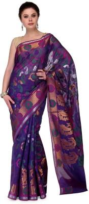 Shad Banarsi Woven Banarasi Banarasi Silk Sari(Dark Blue)