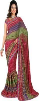 Roop Nikhar Sarees Printed Fashion Georgette Sari