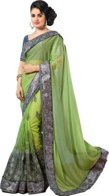 M.S.Retail Embriodered Bollywood Lycra, Net Sari