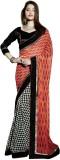Vibes Printed Fashion Georgette Saree (B...