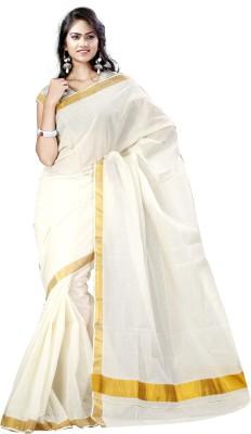 Vastrakala Solid Fashion Cotton Sari