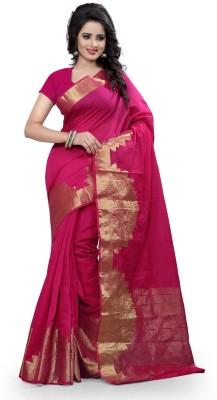 Granth Self Design Bollywood Cotton Sari