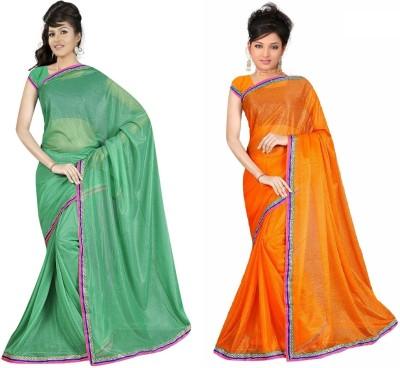 Sukuma Solid Fashion Viscose Sari