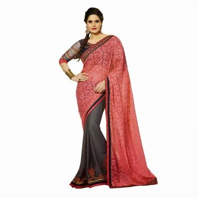 Fabfirki Fashion Hub Embriodered Fashion Georgette Sari