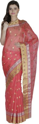 Dazzle Dori Solid Chanderi Handloom Cotton, Silk Sari