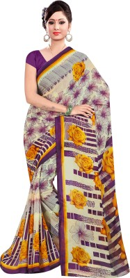 Fashion Factory Floral Print Fashion Chiffon Sari