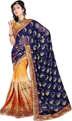 Ranas Fashion74 Embriodered Fashion Georgette Sari