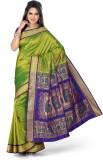 Ishin Solid Fashion Art Silk Saree (Gree...