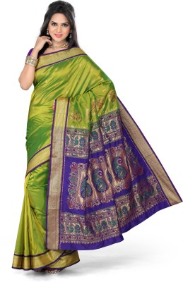 Ishin Solid Fashion Art Silk Sari