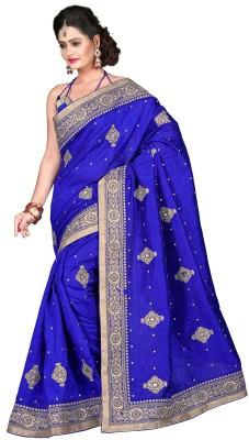 Chhabra Bros Embriodered Bhagalpuri Handloom Silk Sari