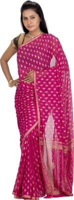 Srinidhi Silks Self Design Fashion Chiffon Sari