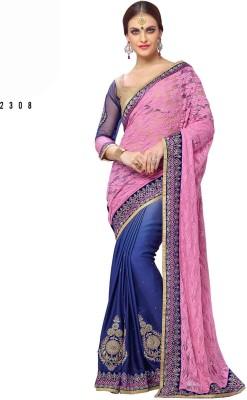 Ethnic Trend Self Design Daily Wear Georgette Sari