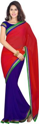 Silkcity Plain Fashion Georgette Sari