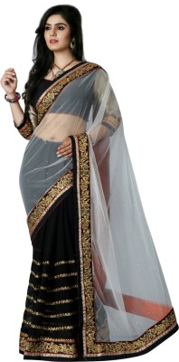 SUHRAD CREATION Embriodered Fashion Net Sari