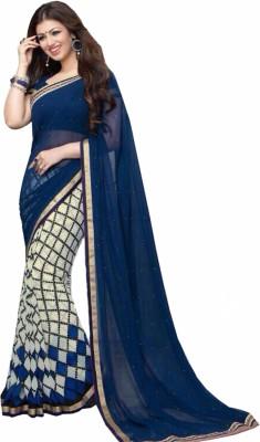Kia Fashions Self Design Bollywood Georgette Sari