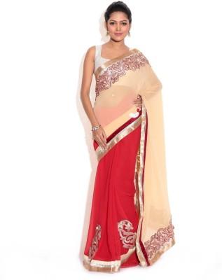 Aaradhya Shop Embriodered Fashion Georgette Sari
