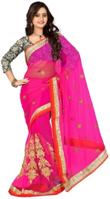 Glamour Tex Embriodered Bollywood Net Sari
