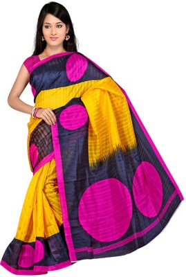 CoreFestival Printed Fashion Poly Silk Sari