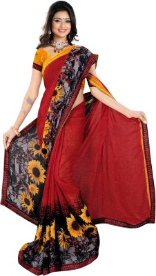 Nandnandan Silk Mills Embriodered Daily Wear Handloom Satin Sari