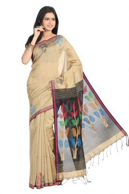 Crochetin Woven Murshidabad Handloom Viscose Sari
