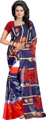 Kalika Floral Print Bollywood Georgette Sari
