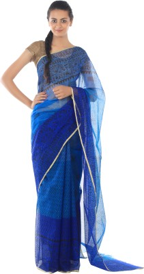Kiara Crafts Printed Daily Wear Handloom Jute Sari