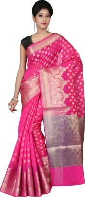 Silk Line Sarees Woven Banarasi Silk Cotton Blend Sari