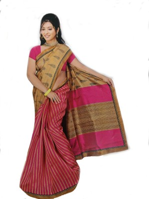 NOOMA Geometric Print Daily Wear Cotton Lycra Blend Sari