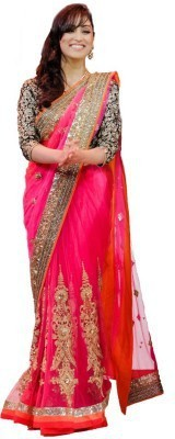 Shiv Enterprise Embriodered Bollywood Handloom Georgette Sari
