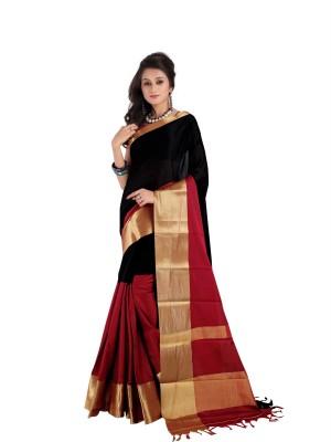 Shobha Sarees Self Design Fashion Silk Cotton Blend Sari