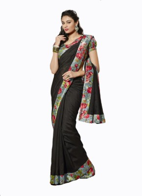 Diva Fashion Geometric Print Bhagalpuri Handloom Cotton, Silk Sari