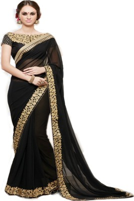 Jambudi Creation Embriodered Fashion Georgette Sari