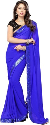 Dancing Girl Plain Bollywood Georgette Sari