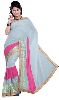 Khusi Fashion Printed Fashion Net Sari
