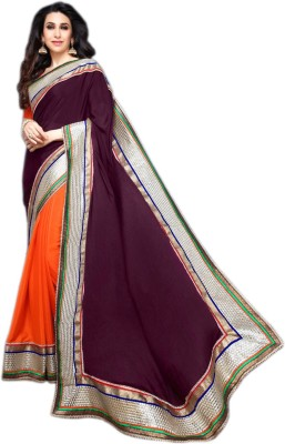 Meher Fashions Embriodered Bollywood Crepe Sari