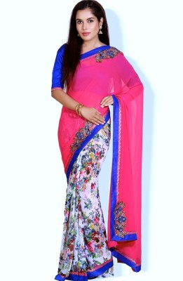 Velli Self Design Fashion Georgette Sari